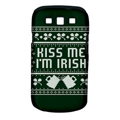 Kiss Me I m Irish Ugly Christmas Green Background Samsung Galaxy S Iii Classic Hardshell Case (pc+silicone)