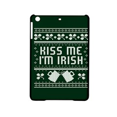 Kiss Me I m Irish Ugly Christmas Green Background iPad Mini 2 Hardshell Cases