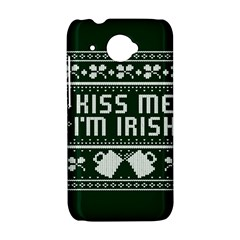 Kiss Me I m Irish Ugly Christmas Green Background HTC Desire 601 Hardshell Case