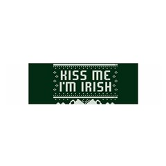 Kiss Me I m Irish Ugly Christmas Green Background Satin Scarf (Oblong)