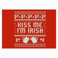 Kiss Me I m Irish Ugly Christmas Red Background Collage Prints