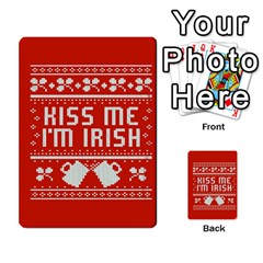 Kiss Me I m Irish Ugly Christmas Red Background Multi Purpose Cards (rectangle)