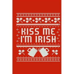 Kiss Me I m Irish Ugly Christmas Red Background 5 5  X 8 5  Notebooks