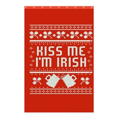 Kiss Me I m Irish Ugly Christmas Red Background Shower Curtain 48  x 72  (Small)
