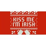 Kiss Me I m Irish Ugly Christmas Red Background Congrats Graduate 3D Greeting Card (8x4) Front