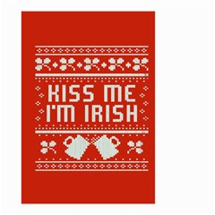 Kiss Me I m Irish Ugly Christmas Red Background Small Garden Flag (two Sides)