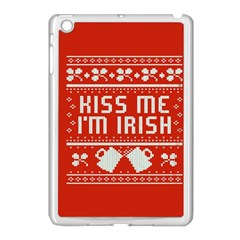Kiss Me I m Irish Ugly Christmas Red Background Apple iPad Mini Case (White)