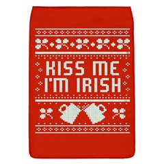 Kiss Me I m Irish Ugly Christmas Red Background Flap Covers (S)