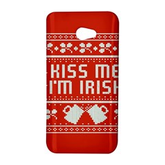 Kiss Me I m Irish Ugly Christmas Red Background HTC Butterfly S/HTC 9060 Hardshell Case
