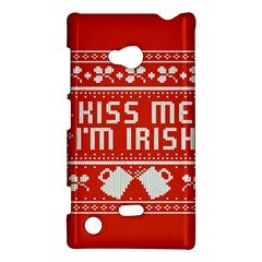 Kiss Me I m Irish Ugly Christmas Red Background Nokia Lumia 720