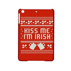 Kiss Me I m Irish Ugly Christmas Red Background iPad Mini 2 Hardshell Cases