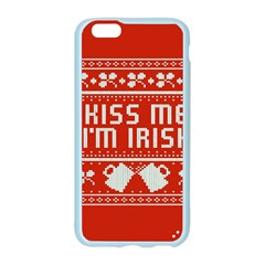 Kiss Me I m Irish Ugly Christmas Red Background Apple Seamless iPhone 6/6S Case (Color)