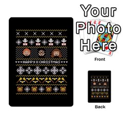 Merry Nerdmas! Ugly Christma Black Background Multi Purpose Cards (rectangle)