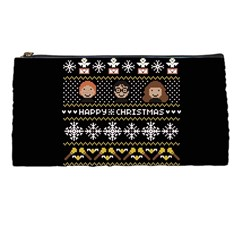 Merry Nerdmas! Ugly Christma Black Background Pencil Cases