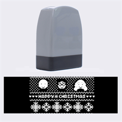 Merry Nerdmas! Ugly Christma Black Background Name Stamps