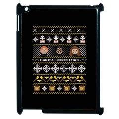 Merry Nerdmas! Ugly Christma Black Background Apple Ipad 2 Case (black)
