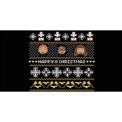 Merry Nerdmas! Ugly Christma Black Background YOU ARE INVITED 3D Greeting Card (8x4)