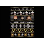 Merry Nerdmas! Ugly Christma Black Background Get Well 3D Greeting Card (7x5) Front