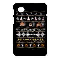 Merry Nerdmas! Ugly Christma Black Background Samsung Galaxy Tab 7  P1000 Hardshell Case