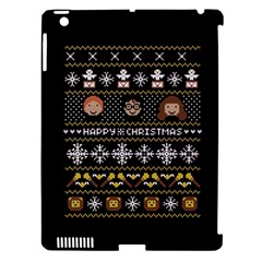 Merry Nerdmas! Ugly Christma Black Background Apple Ipad 3/4 Hardshell Case (compatible With Smart Cover)