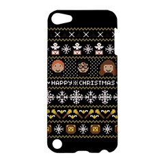 Merry Nerdmas! Ugly Christma Black Background Apple iPod Touch 5 Hardshell Case