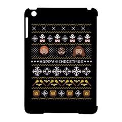 Merry Nerdmas! Ugly Christma Black Background Apple iPad Mini Hardshell Case (Compatible with Smart Cover)