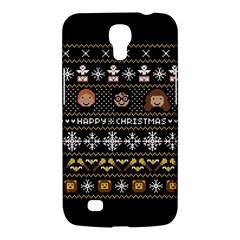 Merry Nerdmas! Ugly Christma Black Background Samsung Galaxy Mega 6.3  I9200 Hardshell Case