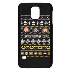 Merry Nerdmas! Ugly Christma Black Background Samsung Galaxy S5 Case (Black)