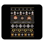 Merry Nerdmas! Ugly Christma Black Background Double Sided Flano Blanket (Small)  50 x40 Blanket Front