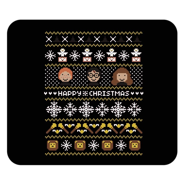 Merry Nerdmas! Ugly Christma Black Background Double Sided Flano Blanket (Small)