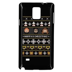Merry Nerdmas! Ugly Christma Black Background Samsung Galaxy Note 4 Case (Black)