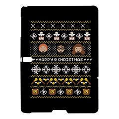 Merry Nerdmas! Ugly Christma Black Background Samsung Galaxy Tab S (10.5 ) Hardshell Case