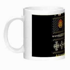 Merry Nerdmas! Ugly Christmas Blue Background Night Luminous Mugs