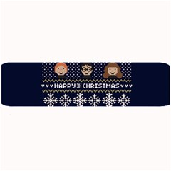 Merry Nerdmas! Ugly Christmas Blue Background Large Bar Mats