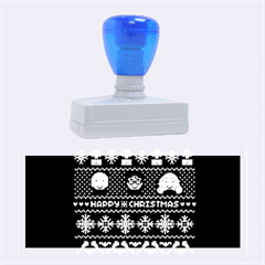 Merry Nerdmas! Ugly Christmas Blue Background Rubber Stamps (Large)