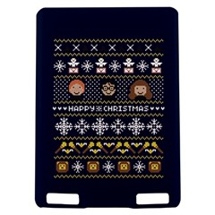 Merry Nerdmas! Ugly Christmas Blue Background Kindle Touch 3G