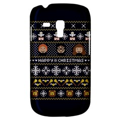 Merry Nerdmas! Ugly Christmas Blue Background Samsung Galaxy S3 Mini I8190 Hardshell Case