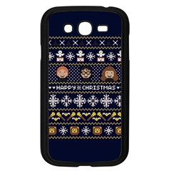 Merry Nerdmas! Ugly Christmas Blue Background Samsung Galaxy Grand DUOS I9082 Case (Black)