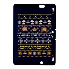 Merry Nerdmas! Ugly Christmas Blue Background Kindle Fire HDX 8.9  Hardshell Case