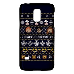 Merry Nerdmas! Ugly Christmas Blue Background Galaxy S5 Mini