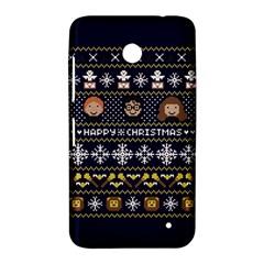 Merry Nerdmas! Ugly Christmas Blue Background Nokia Lumia 630