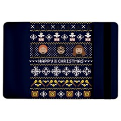 Merry Nerdmas! Ugly Christmas Blue Background iPad Air 2 Flip