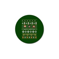 Merry Nerdmas! Ugly Christma Green Background Golf Ball Marker (10 pack)