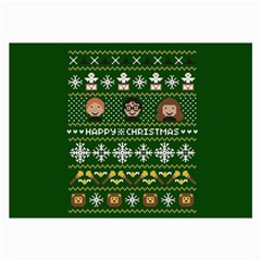 Merry Nerdmas! Ugly Christma Green Background Collage Prints