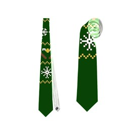 Merry Nerdmas! Ugly Christma Green Background Neckties (two Side)
