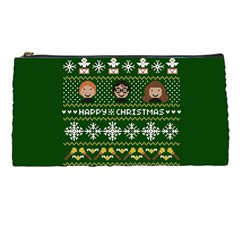 Merry Nerdmas! Ugly Christma Green Background Pencil Cases