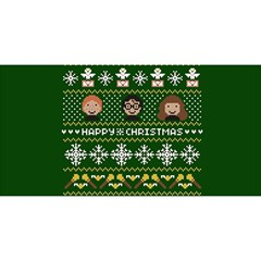Merry Nerdmas! Ugly Christma Green Background YOU ARE INVITED 3D Greeting Card (8x4)