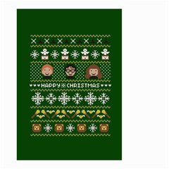 Merry Nerdmas! Ugly Christma Green Background Small Garden Flag (Two Sides)