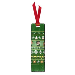 Merry Nerdmas! Ugly Christma Green Background Small Book Marks