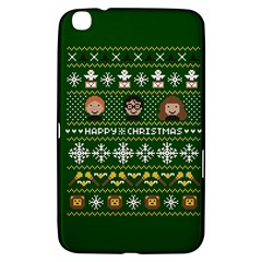 Merry Nerdmas! Ugly Christma Green Background Samsung Galaxy Tab 3 (8 ) T3100 Hardshell Case